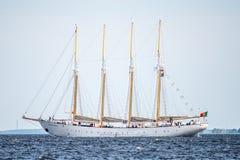 Trzebiez, Πολωνία - 8 Αυγούστου 2017 - πλέοντας πανιά Cisne Branco σκαφών στην πλήρη θάλασσα μετά από τελικό των ψηλών φυλών 2017 Στοκ εικόνες με δικαίωμα ελεύθερης χρήσης