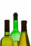 trzech butelek wina Zdjęcia Stock