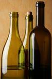 trzech butelek wina Zdjęcia Royalty Free