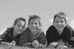 trzech chłopców Obrazy Royalty Free