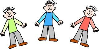 trzech chłopców Zdjęcia Royalty Free