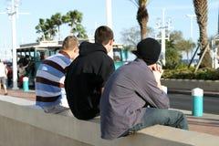 trzech facetów do ściany Zdjęcia Stock
