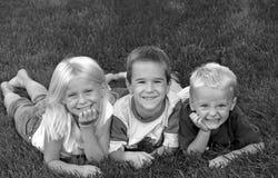 trzech przyjaciół Zdjęcia Royalty Free