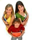 trzech uczniów Fotografia Royalty Free