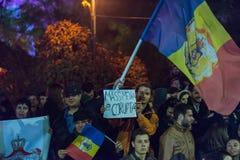 Trzeci dzień protest przeciw coruption i Rumuńskiemu rzędowi Fotografia Royalty Free