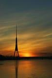 trzeci Europę wieży tv Obrazy Stock