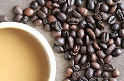 Trzeci Falowej specjalności napoju Kawowy abstrakt Obrazy Stock