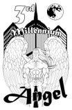 Trzeci milenium anioł Fotografia Royalty Free