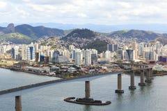 Trzeci most, Vitoria, Vila Velha, Espirito San (Terceira Ponte) obraz stock