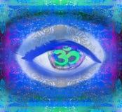 Trzeci oka mistyczny znak Fotografia Royalty Free
