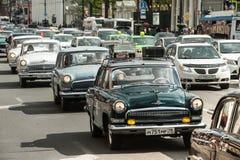 Trzeci St Petersburg parada retro samochody na Nevsky argument za Zdjęcia Stock