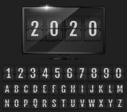 Trzepnięcie odliczanie zegar rok obraz stock