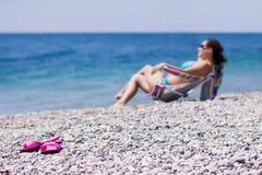 trzepnięcie plażowa klapa Obraz Royalty Free