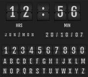 Trzepnięcie stołowego zegaru zegar i kalendarz fotografia royalty free