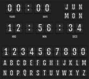 Trzepnięcie stołowego zegaru zegar i kalendarz obraz stock