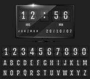 Trzepnięcie stołowego zegaru zegar i kalendarz zdjęcia royalty free