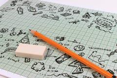 TRZON edukacja Nauki technologii inżynierii Mathematics Fotografia Stock