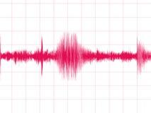 trzęsienie ziemi wykres Obraz Royalty Free