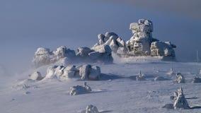 Trzy Åšwinki i jätte- berg/Karkonosze Royaltyfri Fotografi