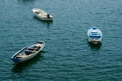 trzy łódź Obrazy Stock
