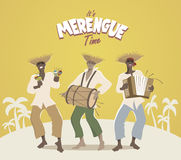 Trzy łacińskiego muzyka bawić się łacińską muzykę ilustracji
