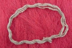 Trzy ścinaka na różowym tle Fotografia Royalty Free