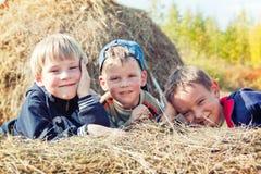 Trzy chłopiec Fotografia Royalty Free