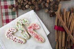 Trzy Świątecznego Cukrowego ciastka fotografia stock