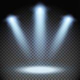 Trzy świateł reflektorów skutek Obraz Stock