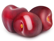 Trzy świeżej dojrzałej czerwonej wiśni Fotografia Royalty Free