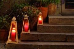trzy świece Obrazy Stock