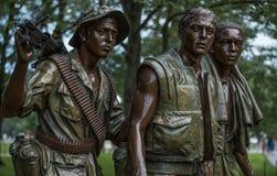 Trzy żołnierzy Wietnam pamiątkowa statua, washington dc Fotografia Royalty Free
