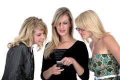 trzy 2 telefonu kobiety jednostek gospodarczych Fotografia Royalty Free