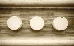 Trzy abstrakcjonistycznego okręgu jako tło Zdjęcia Stock