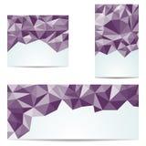 Trzy abstrakcjonistycznego trójgraniastego sztandaru Obrazy Royalty Free