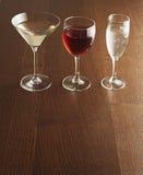 Trzy Alkoholicznego napoju Obrazy Stock
