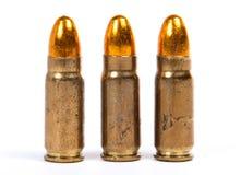 Trzy amunici dla broni palnych Obrazy Royalty Free