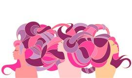 Trzy antykwarskiej sylwetki dziewczyny Zdjęcie Royalty Free