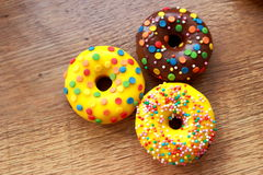 Trzy asortowanego donuts Obraz Royalty Free