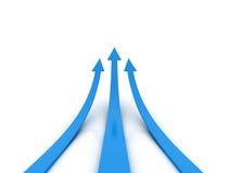 Trzy błękitów strzała - turniejowy pojęcie royalty ilustracja