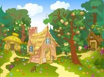 Trzy bajecznie dom ilustracji