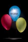 Trzy balonu który motywuje ciebie dostawać wysokim niż inny Zdjęcie Stock