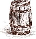 Trzy baryłki ilustracja wektor