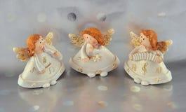 Trzy biel anioł Zdjęcia Stock
