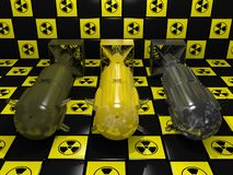 Trzy bomby atomowej ilustracji