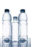 trzy butelki wody mineralne Fotografia Royalty Free