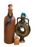 Trzy ceramicznej butelki Obraz Stock