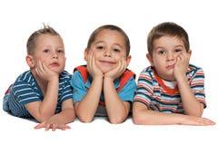 Trzy małego przyjaciela zdjęcia stock