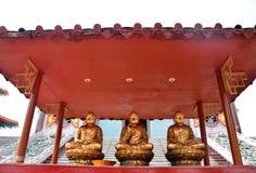 Trzy chińczyków Buddha wizerunek Obraz Royalty Free