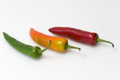 Trzy chillies Fotografia Royalty Free